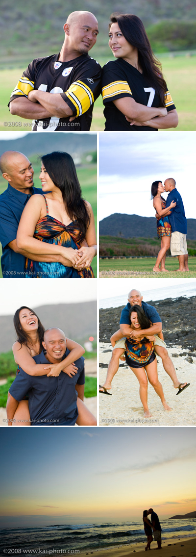 engagement session at sandy beach, hawaii