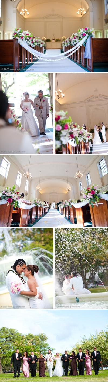 WEDDING AT CENTRAL UNION CHURCH - HONOLULU, HAWAII